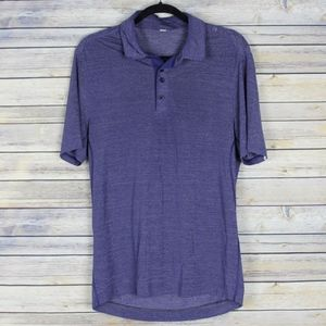 Lululemon Mens Heathered Purple Polo Shirt Small